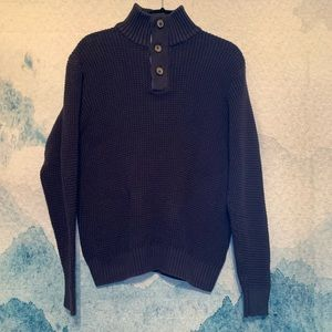 Weatherproof Vintage L Navy Knitted Pullover